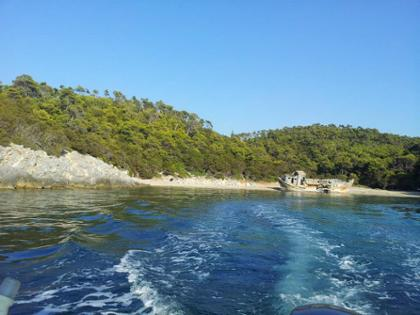 A photo of Exploring Skyros by boat in Skyros, Greece